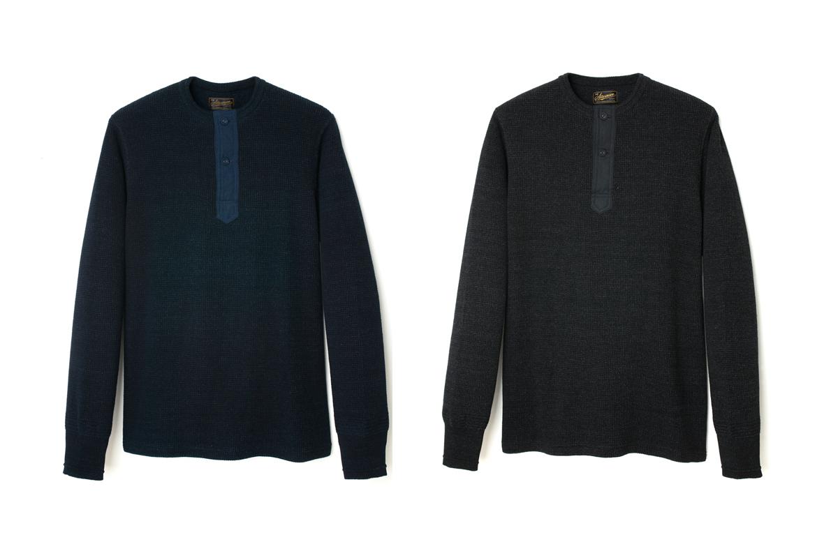 「Indigo Henley Shirt - HS1」