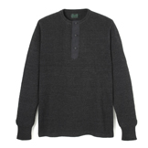 Indigo Long Sleeve Henley - IH