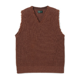 Cut Off  V Neck Sweater - CV