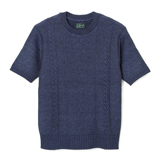 Indigo Cable Knit Short Sleeve - IC