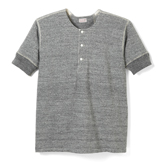 Loop Wheel Short Sleeve Henley - HS