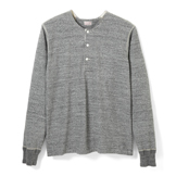Loop Wheel Long Sleeve Henley - HL