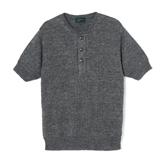 Linen Blended Knit Henley - KH