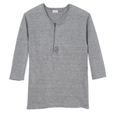Linen Three-Quarter  Sleeve Henley - HS1
