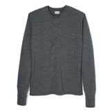 Wool Long Sleeve Henley - LH1