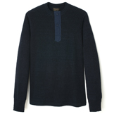 Indigo Henley Shirt - HS1