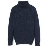 Indigo Turtleneck Sweater - TS1