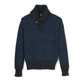 Indigo Shawl Collar Sweater - SS1