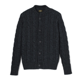 Indigo Cable Knitted Cardigan - CC1