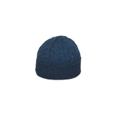 Indigo Cable Knitted Cap - KC