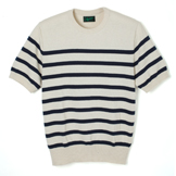 Short Sleeve Border Knit - BK