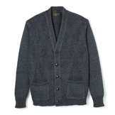 Faded Indigo Pleat Knit Cardigan - FC