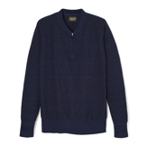 Indigo Zippered Neck Sweater - IZ