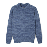 Denim Yarn-Hand Woven Crew Neck - DS
